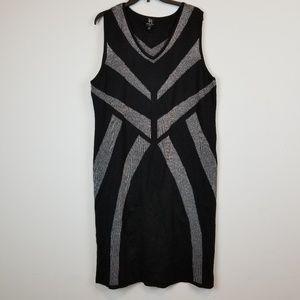 Derek Heart black/silver plus size sweater dress